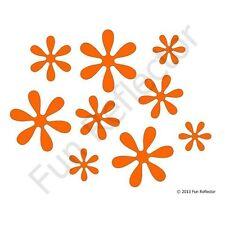 Flower Orange Bicycle Reflective Stickers Decals