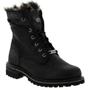 Harley Davidson Clearfield Womens Ladies Army Biker Motorcycle Ankle Boots