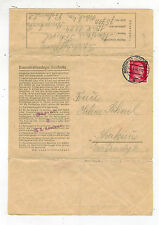 1943 Germany Auschwitz Concentration Camp Cover to Krakow Poland M Sohnel KZ