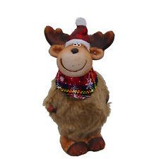 ALCE XL con peluche Sciarpa Berretto di Natale decorazione 13,5x7cm ceramica