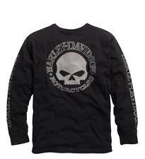 Harley-Davidson Men's Skull Long Manche Tee Black taille S-Shirt Hommes Noir