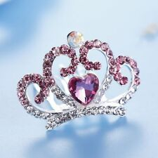 Hair Jewelry Flower Crystal Rhinestone Love Heart Tiara Crown Hair Comb