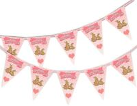 Happy Mothers Day Bunting Banner - Bunnies - 15 flags by PARTY DECOR
