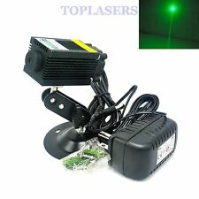 532nm 100mW Green Laser Dot Diode Module w/12V Adapter & Holder f Room Escape