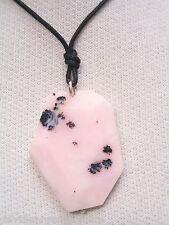 Ciondolo in ARGENTO 925 con OPALE ROSA naturale e girocollo - pietra dura -