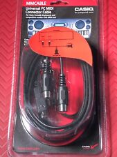 Casio Mm Cable Universal Pc Midi Connector Cable Portable Keyboards w/ Midi Jack