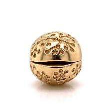 Pandora 14K Yellow Gold Floral Lucerne Retired Clip Bead Charm Style 750818! 153