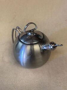 Chantal Stainless Steel Teapot Kettle 1.3 Quart 1.26 Liters hc