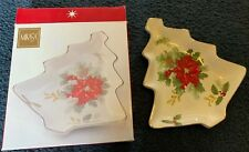 Mikasa Holiday Bloom Christmas Tree Plate NEW IN BOX Serving Tray Gift