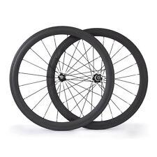 Carbon Road Bike Wheels  50mm Tubular 23mm Bicycle Cycling Wheelset Novatec Hub