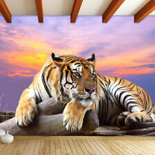 Customized 3D Tiger Animal Wallpapers Large Mural Bedroom Living Room Sofa