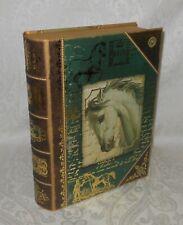 Punch Studio Gold Foil Script Horse Keepsake Gift Book Box NEW FREE SHIPPING