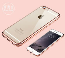 iPhone 8/7 Case Full Cover Germany TPU Chrome Plate Edge - Rosegold