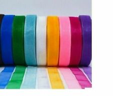 Satin Ribbons, 1/2-inch x10M Each, Multicolour- Set of 10