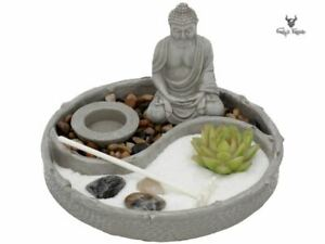 Garden of Tranquility 21.5cm Peaceful Zen Garden with Buddha Meditating Nemesis