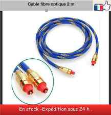 Cable fibre optique 2 m qualité supérieur male/male  Audio Optical Fiber Optic