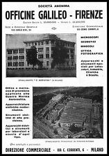 PUBBLICITA' OFFICINE GALILEO STABILIMENTO FIRENZE RIFREDI F.KORISTKA MILANO 1931