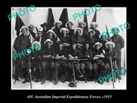 OLD POSTCARD SIZE PHOTO OF AIF EXPEDITIONARY FORCES  UNIT c1915
