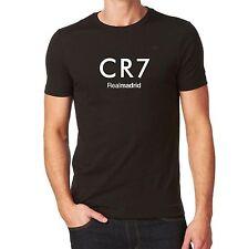 d80c3314a Real Madrid CR7 Ronaldo Tshirt Black Custom Camiseta Jersey Soccer Futbol  Spain