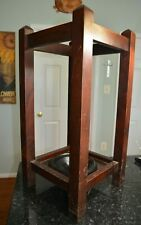 The Sikes Co. Antique Wooden and Brass Umbrella Stand