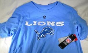 Official NFL Detroit Lions Youth YXL 18 Blue White T-Shirt FAST SHIP! C78