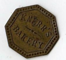 KNERR'S BAKERY*ADVERTISING TOKEN*GOOD FOR ONE LOAF OF BREAD*HEAVY METAL HEXAGON