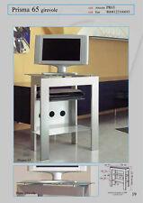 Carrello mobile Porta Televisore con piano girevole  mod. PRISMA 65 di Tecnidea