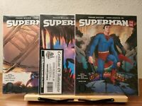 SUPERMAN YEAR ONE #1, 2, 3 (DC BLACK LABEL) FRANK MILLER/ SIGNED by ROMITA JR.