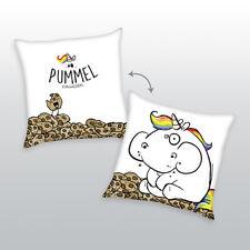 Herding Kuschelkissen Kissen Kinderkissen Pummel Einhorn weiß 40 x 40 cm