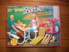 ☼ Mobilier barbie vintage boite pique nique 1986 ☼