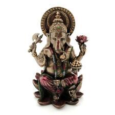 "GANESHA STATUE 4"" Hindu Elephant God Bronze Resin Lord of Success Ganesh QUALITY"