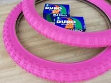 "New PINK Kids Bicycle Tires and Tubes 20x2.125 Fits 1.75 1.95 BMX 20"" Girls BIKE"