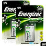 2 x Energizer Rechargeable 9V batteries Recharge Power NiMH 175mAh Block PP3