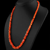 159.50 CTS NATURAL SINGLE STRAND UNTREATED RICH ORANGE CARNELIAN BEADS NECKLACE