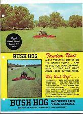 Original Bush Hog 806N 806NR 807N 807NR Tandem Unit Cutter Sales Brochure BH-21