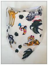 Bandana Dribble Bib Bavoir JUNGLE ANIMAUX ZOO tissu bébé couches Burp Food Safari