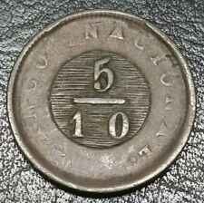 1831 5/10 Real Buenos Aires Argentina Soho Mint High Value Copper UK Coin