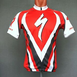 Specialized  Cycling Jersey Multicolor Full Zip Short Sleeve Shirt Size S