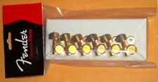 """Fender® American Deluxe Locking Gold Tuners (6)~""""F"""" Logo~0990818200~Brand New"""