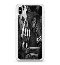 Spooky Cool Grim Reaper Ace Of Spades Card Game Over Quote 2D Phone Case Cover
