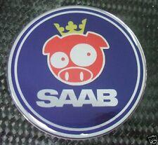2.5 SAAB RALLY PIG BLUE Emblem decal 93 9-3 95 9-5 9-2X
