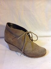 River Island Brown Ankle Suede Boots Size 6