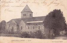 CRECHES-SUR-SAÔNE église timbrée 1903