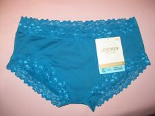 JOCKEY - PARISIENNE CLASSIC BOYLEG BRIEF Indian Peacock Sz 10-16 NEW
