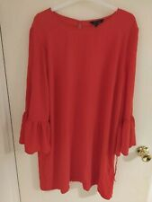 New Look Size 18 Bell Sleeved Red Dress