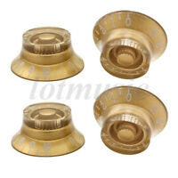 4 Pcs Speed Guitar Control Knobs Guitar Knob for Guitar Replacement Parts Gold