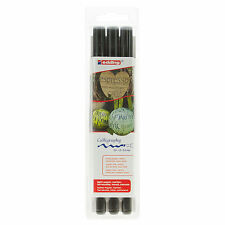 EDDING 1255 CALLIGRAPHY PEN SET [Wallet of 3 Pens] - Black Ink 2mm, 3.5mm, 5mm