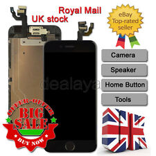 For iPhone 6 Replacement Digitizer LCD Touch Screen Black Home Button Camera UK
