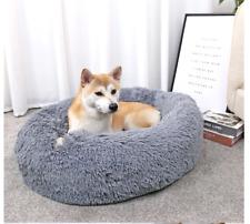 New listing Donut Plush Pet Dog Cat Bed Fluffy Soft Warm