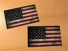 2x USA Flagge Aufkleber Sticker Vintage Retro Tuning Oldtimer Racing V8 Auto V6